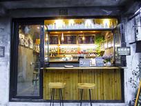 奶茶店铺正面摄影图