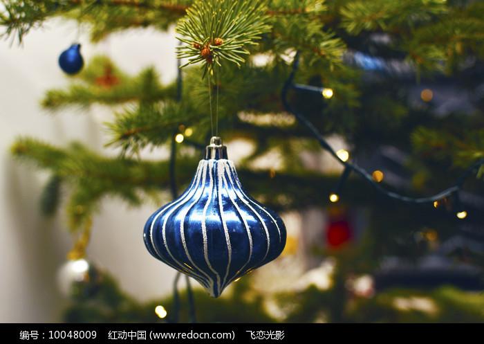 圣诞节蓝色挂饰图片