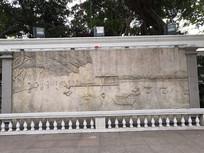 航海浮雕墙