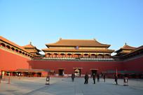 北京故宫的午门城楼