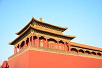 北京故宫午门特写