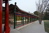 北京天坛公园双环亭走廊