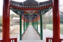 北京天坛万寿亭走廊