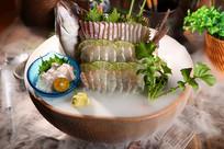 日料海鲜生鱼片摄影图