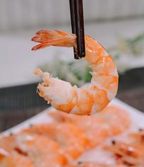 新鲜虾仁摄影图