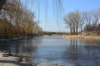 圆明园冬日湖泊