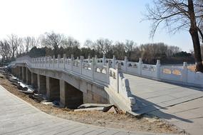 圆明园冬日石桥