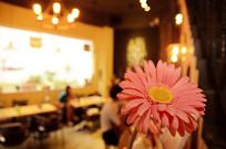 咖啡厅一朵花