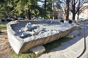 水木清华荷花雕塑