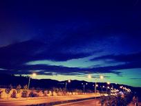 夜晚天空的美景