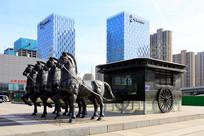 城市景观马车