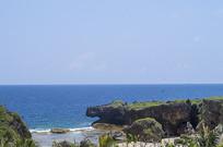 热带海边岩石