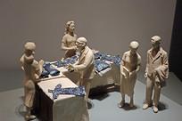 犹太人在上海逃难居住场景雕塑