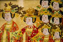 唐三彩壁画仕女画