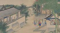 孙温红楼梦插图- 古代人物生活场景