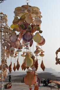 海边五彩贝壳风铃