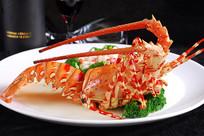 海鲜大龙虾摄影图