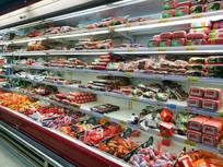 超市火腿陈列柜