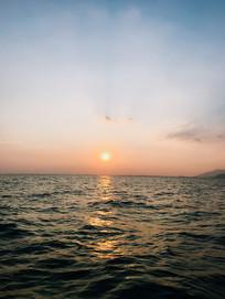 海南海边夕阳风光