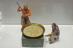 阿胶传统炼胶《化皮》工艺雕塑