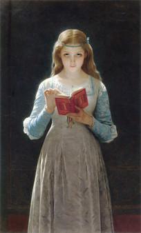 奥古斯特·库特油画-奥菲利亚