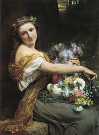 奥古斯特·库特油画-迪奥尼西娅
