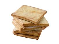 传统名小吃卤豆干白底图片