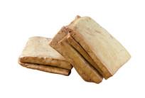 豆类食品卤豆腐干白背景图片