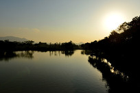 温州三洋湿地公园 黄昏