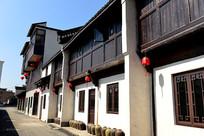 萧山河上古镇街景