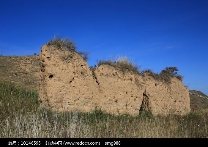 古代城墙夯土墙图片