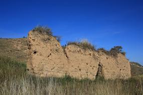 古代城墙夯土墙