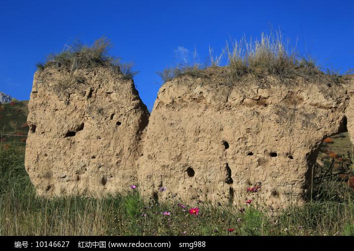 夯土城墙图片