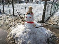 可爱雪人图