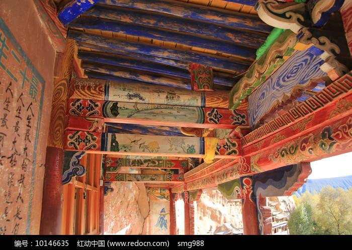 马蹄寺彩绘图片