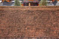 千佛洞红瓦屋顶