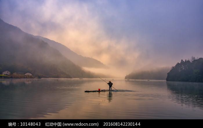 秋浦河渔翁图片