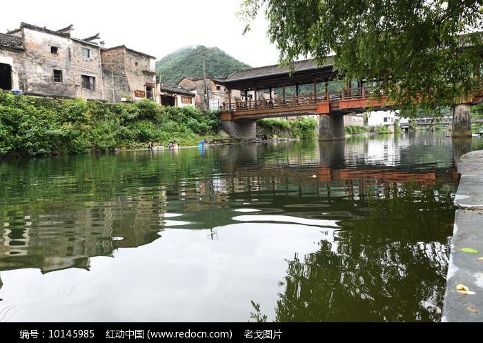 瑶里古镇风雨桥景色图片