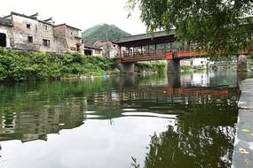瑶里古镇风雨桥景色