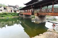 瑶里古镇风雨桥近景