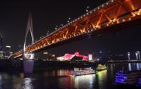 重庆千厮门嘉陵江大桥夜景