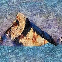 抽象风景布料底纹
