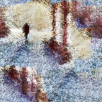 抽象風景圖案印花