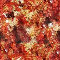 枫叶抽象油画