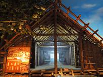 河姆渡干栏式建筑(房屋)