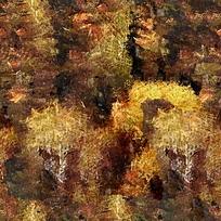 黄色秋天抽象画