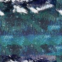 蓝色背景油画