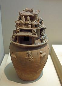 西晋瓯窑青瓷堆塑罐