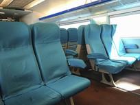 磁浮列车座位蓝色素材
