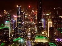 广州城市夜景风光